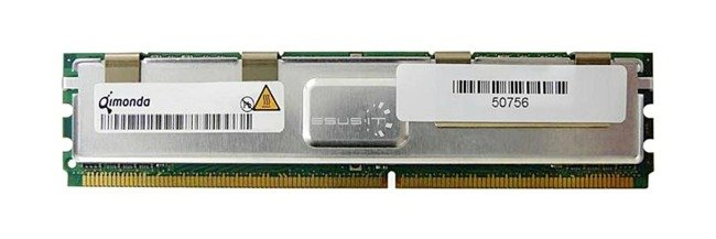 RAM memória 1x 1GB QIMONDA ECC FULLY BUFFERED DDR2 667MHz PC2-5300 FBDIMM | HYS72T128420HFN-3S-B