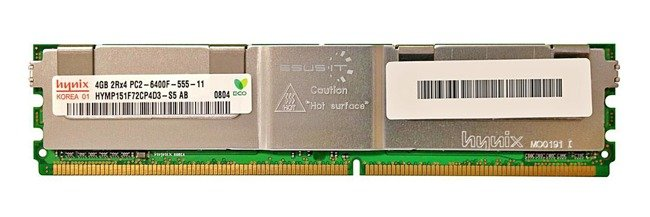 RAM memória 1x 4GB Hynix ECC FULLY BUFFERED DDR2 800MHz PC2-6400 FBDIMM | HYMP151F72CP4D3-S5